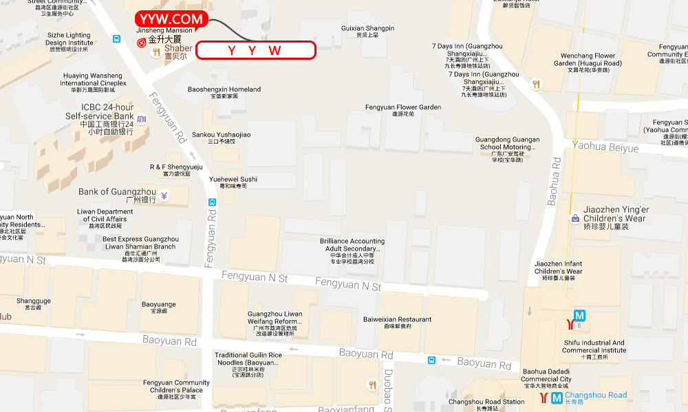 Location map to yyw.com in Beijing (english)